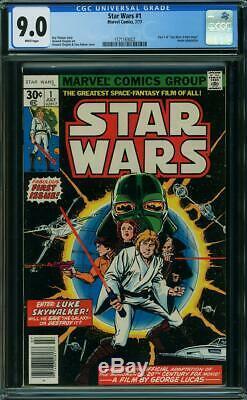 STAR WARS # 1 US MARVEL 1977 1st STAR WARS Howard Chaykin VFNNM 9.0 CGC WHITE