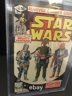 STAR WARS #42 (1980) PGX 9.6 NM/NM+ 1st BOBA FETT & YODA CGC