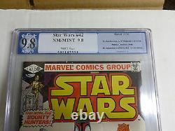 STAR WARS # 42 9.8 pgx boba fett not cgc