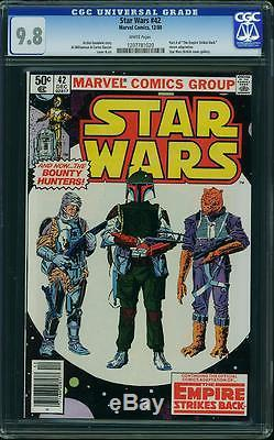 STAR WARS #42 CGC 9.8 1st app BOBA FETT YODA WHITE PAGES 1980