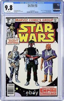 STAR WARS 42 CGC 9.8 White Pages NEWSSTAND Edition 1st Boba Fett (Lot 1)