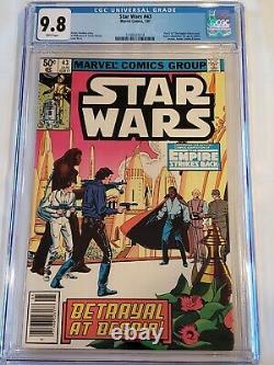 STAR WARS #43 (1981) CGC 9.8 WHITE RARE NEWSSTAND 1st LANDO MARVEL Comics