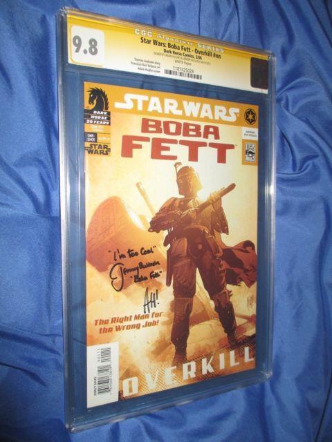 Star Wars Boba Fett #1 Cgc 9.8 Ss Signed By Jeremy Bulloch & Adam Hughes 2006