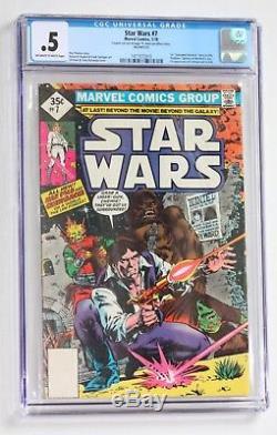 STAR WARS CGC COMIC LOT #4 #7-12 #14 (8 CGC Comics) Marvel 1977-1978 Bronze Age