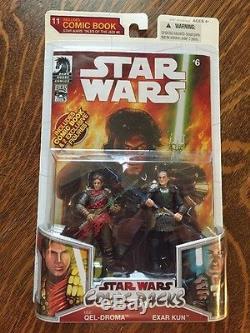 STAR WARS Comic Packs ULIC QEL DROMA EXAR KUN 3.75 Figures NEW 2008 Tales Jedi