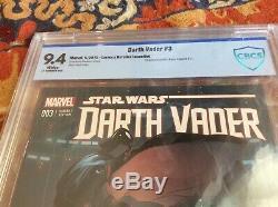 STAR WARS DARTH VADER #3 CBCS 9.4 Larroca 125 Variant 1st Printing 2015
