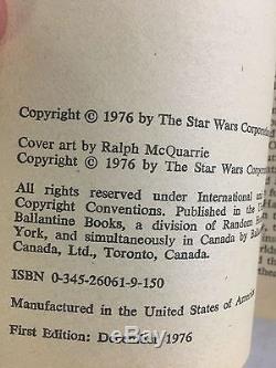 STAR WARS From the Adventures of LUKE SKYWALKER, Rare Trade Paperback NOVEL 1976