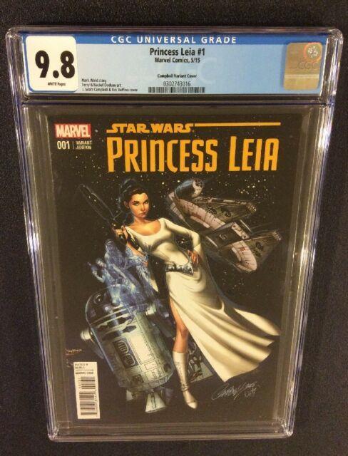 Star Wars Princess Leia #1 Comic Book Cgc 9.8 J. Scott Campbell 150 Ri Variant