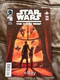 STAR WARS THE CLONE WARS #1 1ST AHSOKA TANO DARK HORSE COMICS (2008) 00111 dir
