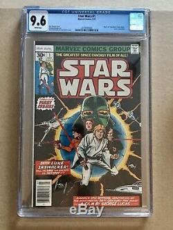 STAR WARS number 1 COMIC BOOK 1977 First Print CGC WHITE PAGES 9.6. Just Came