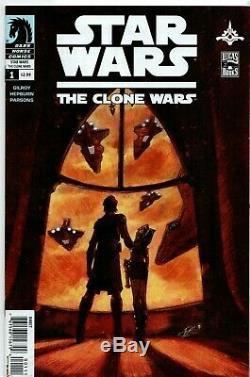 STAR WARS the CLONE WARS #1 KEY 1st Appearance of ASHOKA Dark Horse NM (9.4)