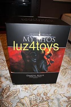 Sideshow Star Wars Darth Maul Mythos Statue Exclusive LMT to 2500 WithArt Print