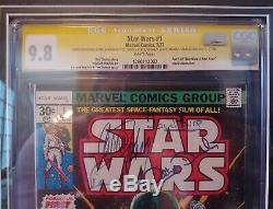 Star Wars 1977 Comic #1 Cgc 9.8 Hamill+ford+fisher+daniels+mayhew+prowse+baker