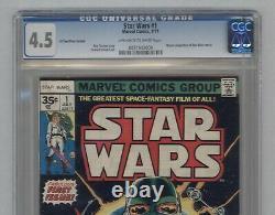Star Wars #1 1977 35 Cent Test Price Variant 1st Darth Vader & Luke CGC 4.5