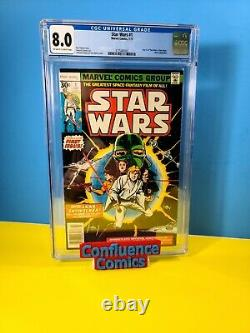 Star Wars #1 (1977) CGC 8.0 Part 1 Star Wars A New Hope