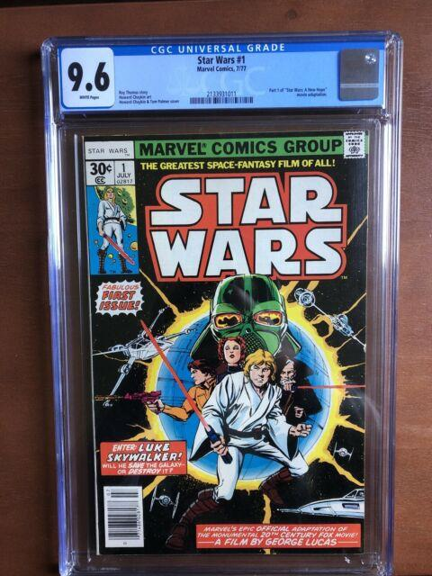 Star Wars #1 (1977) Cgc 9.6 Nm White Pages Key Issue Marvel Bronze Age Movie