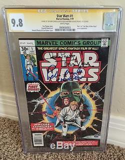 Star Wars #1, 1977, CGC 9.8 SS, Signed x3, Prowse Daniels Mayhew, 1st Print