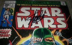 Star Wars #1 (1977) CGC SS 9.0 Signed 3X STAN LEE MARK HAMILL CHAYKIN Signature