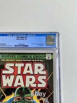 Star Wars #1 1977 Original FIRST PRINT comic- WHITE PAGES JUST ARRIVED CGC 9.4
