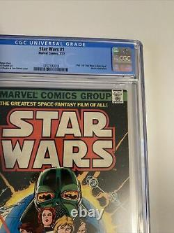 Star Wars #1 1977 Original first print COMIC CGC Graded 9.6 White Pages News