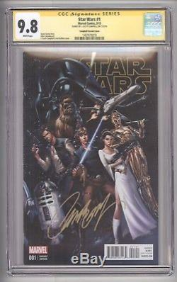 Star Wars #1 (2015) Variant Cover Signed By J. Scott Campbell Cgc 9.8