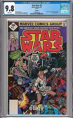 Star Wars #1 #2 & #3 (9.6) CGC 9.8 NM/MT WHITE Pages New Slab RARE 1977 Reprint