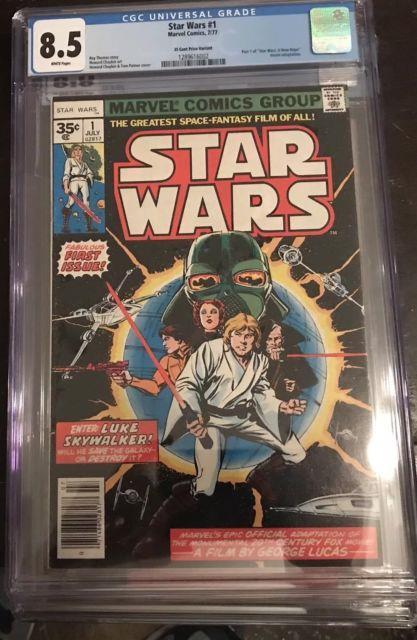 Star Wars #1 35 Cent Cgc 8.5 (vf+) Bronze Key! Rare Variant! Wp! $8,500 Value