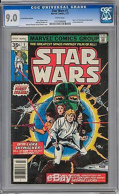 Star Wars #1 35 Cent Price Variant CGC 9.0 (W) Incredibly Rare The Force Awakens