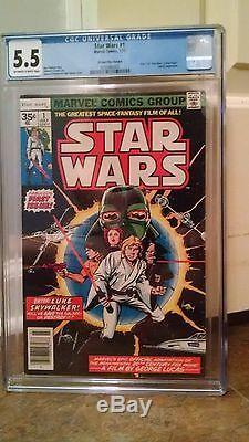 Star Wars #1 35 Cent Price Variant CGC Universal Grade 5.5