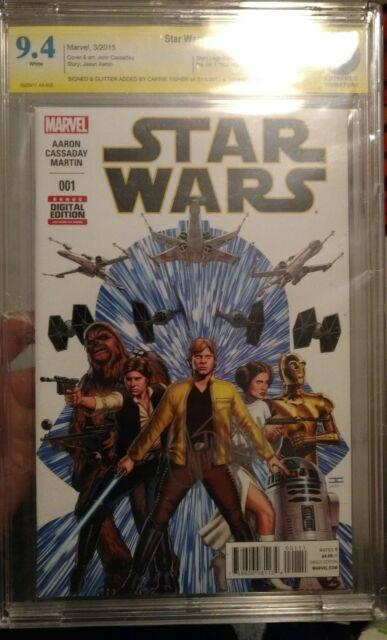 Star Wars #1 (3/2015, Marvel) Cbcs 9.4 Signature Series Signed By Carrie Fisher