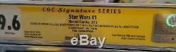 Star Wars#1 9.6 CGC Signed By Jeremy B David P Billy W Carrie Fisher Mark Hamill