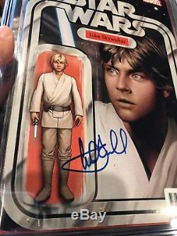 Star Wars #1 Action Figure Variant CGC 9.6 SS Signed Mark Hamill