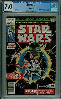 Star Wars #1 CGC 7.0 VF- 35 cent price variant. 35 white pages 2086079009