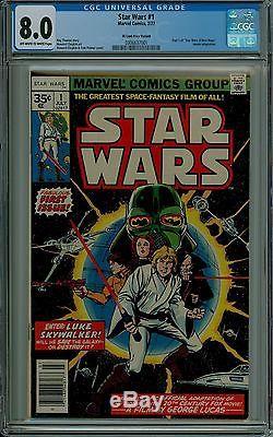 Star Wars #1 CGC 8.0 VF 35 cent price variant. 35 very fine Marvel 0306637001