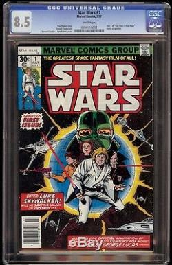 Star Wars # 1 CGC 8.5 White 1st appearance of Star Wars characters and universe