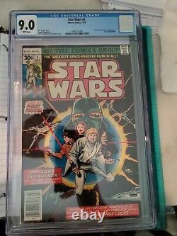 Star Wars #1 CGC 9.0 BEAUTIFUL CRISP WHITE PAGES 1ST PRINTING 1977 Marvel A GEM
