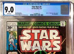 Star Wars #1 CGC 9.0 CRISP WHITE PAGES 1ST PRINTING 1977 Marvel 4 AVAIL ALL WHT