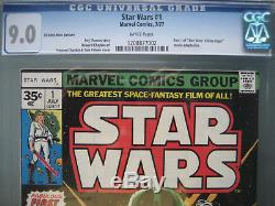 Star Wars #1 CGC 9.0 WP 1977 Rare 35 Cent Price Variant First Printing
