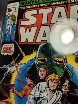 Star Wars #1 CGC 9.2 NM-, 7/1977, Marvel, White pages