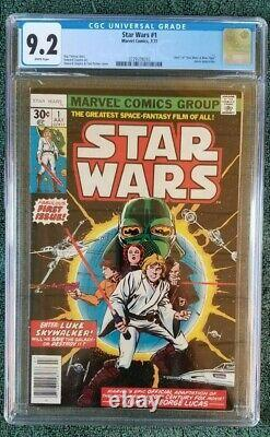 Star Wars 1 CGC 9.2 WHITE PAGES (1977 Marvel) 1st Star Wars comic