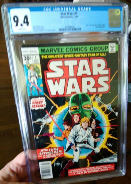 Star Wars #1 Cgc 9.4 White Pages Newsstand Variant Marvel Comics 1977