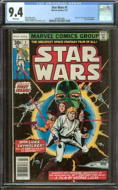 Star Wars 1 Cgc 9.4 White Pages