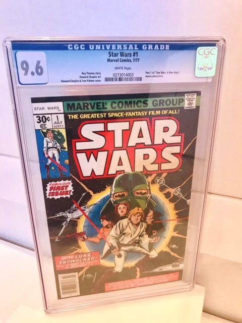 Star Wars #1 Cgc 9.6 White Pgs 1st Print Marvel 1977 Holy Grail Key Investment