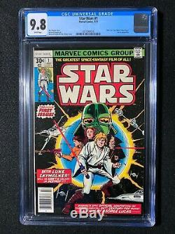 Star Wars #1 CGC 9.8 (1977) Part 1 of Star Wars A New Hope WHITE pages