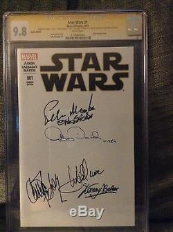 Star Wars 1 CGC 9.8 SS CAST SIGNED x5, KATHLEEN KENNEDY and director JJ ABRAMS