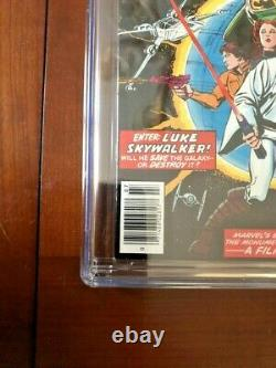Star Wars #1 CGC 9.8 White Pages (1977) Excellent Centering Marvel Comics