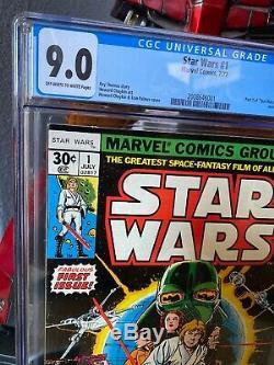 Star Wars #1 CGC SS 9.0 (OW-W) Marvel 1977
