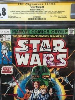 Star Wars #1 CGC SS 9.8 Fisher Hamill Prowse Baker Daniels Mayhew McDiarmid 1977