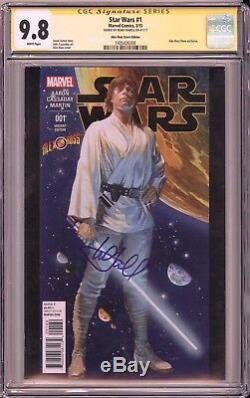 Star Wars #1 CGC SS 9.8 Mark Hamill signed Alex Ross store edition MARVEL COMICS