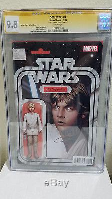Star Wars 1 CGC SS 9.8 signed by Mark Hamill comic